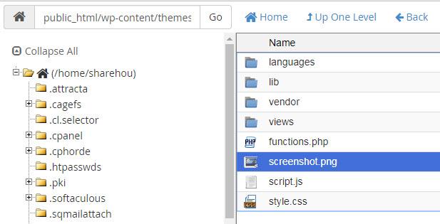 cách đổi tên theme cho website wordpress