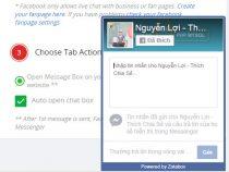 Tích hợp chát facebook vào website wordpress