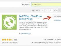 Hướng dẫn backup wordpress tự động với Plugin WP Backup