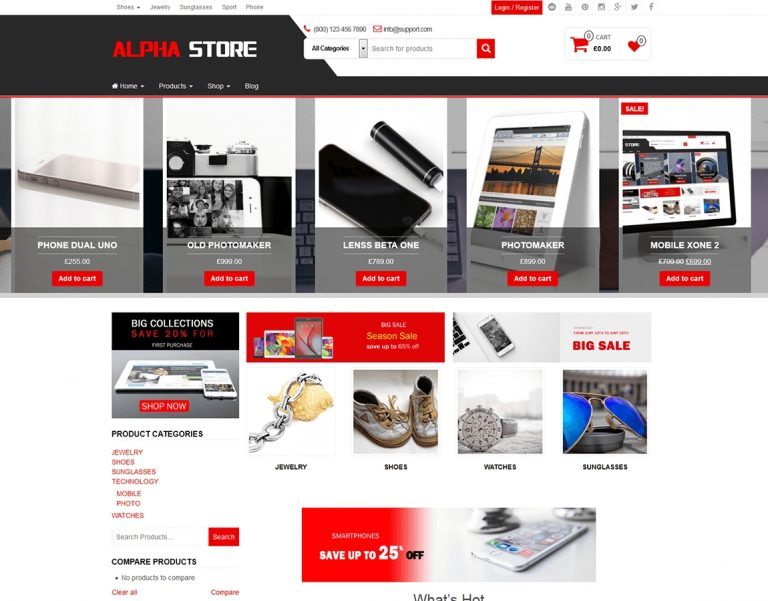 theme wordpress bán hàng miễn phí Alpha Store