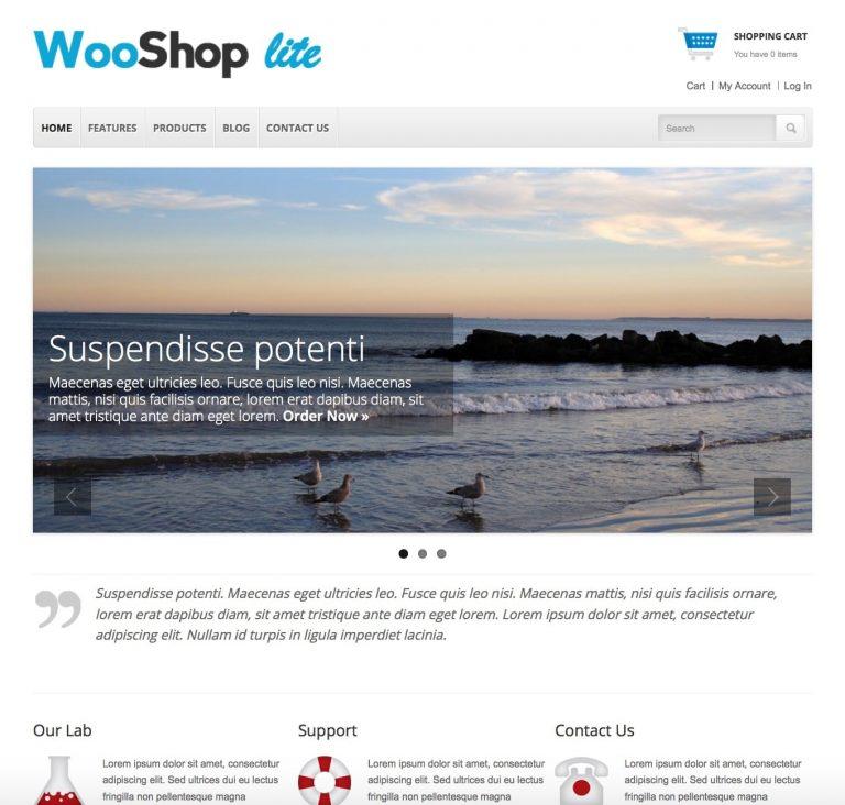theme wordpress bán hàng miễn phí WooShop Lite
