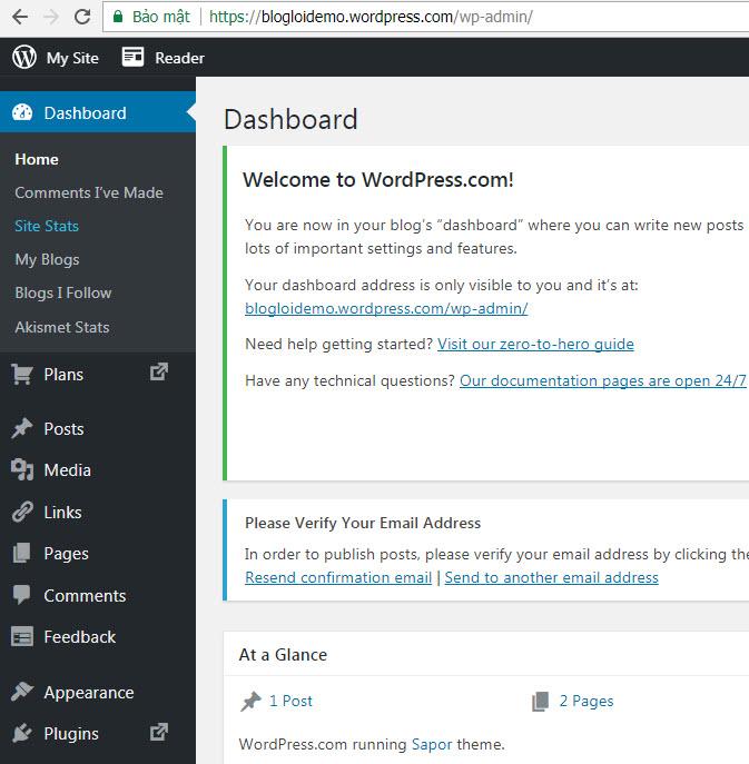 thiết kế blog wordpress miễn phí