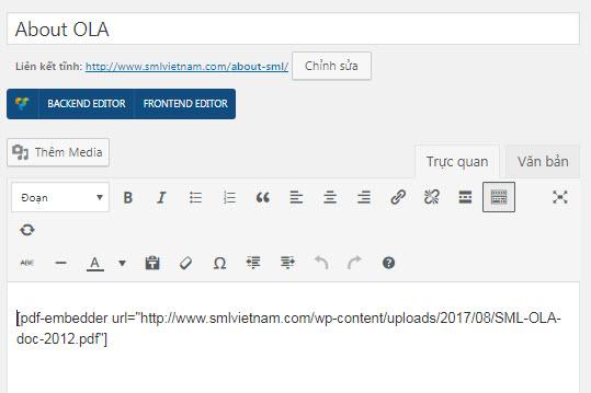 nhúng file pdf vào website wordpress