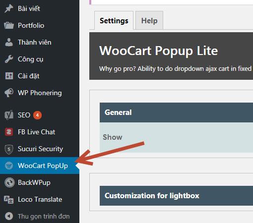 Plugin hiển thị popup giỏ hàng trong woocommerce