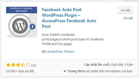 plugin tự động đăng bài lên facebook