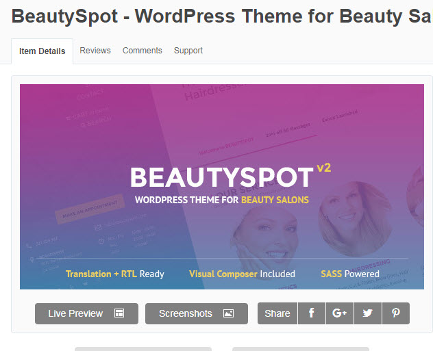 Theme wordpress cho web spa đẹp