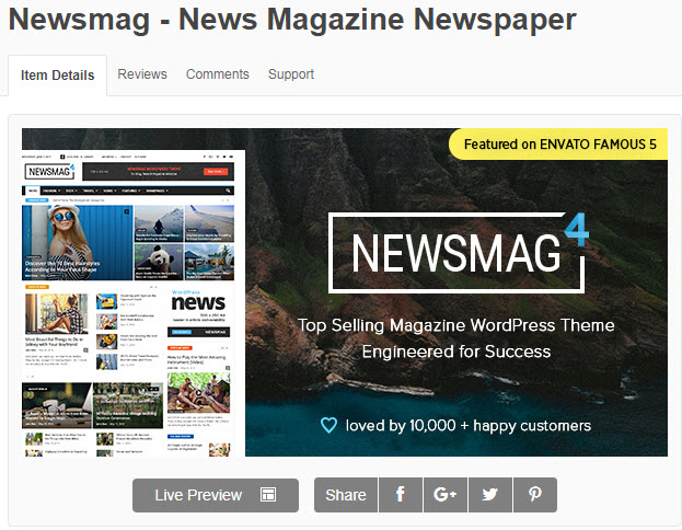 theme wordpress tin tức newsmag