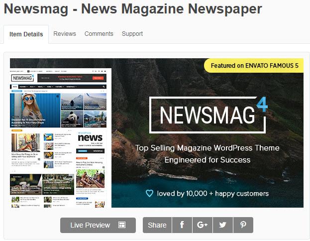 theme wordpress tin tức newsmag
