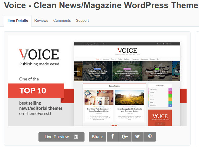 theme wordpress tin tức voice