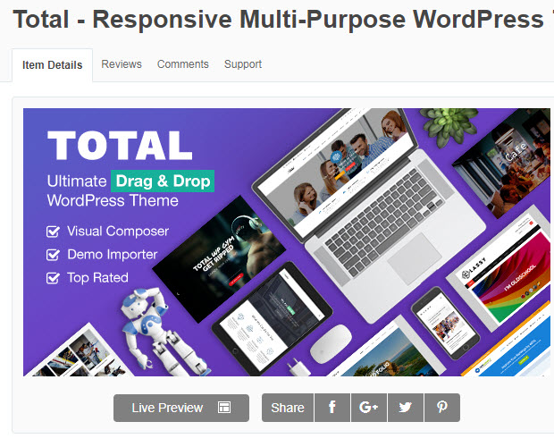 theme wordpress total