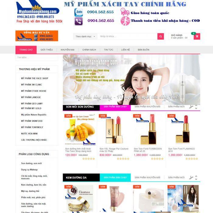 thiết kế website bán mỹ phẩm bằng wordpress chuyên nghiệp