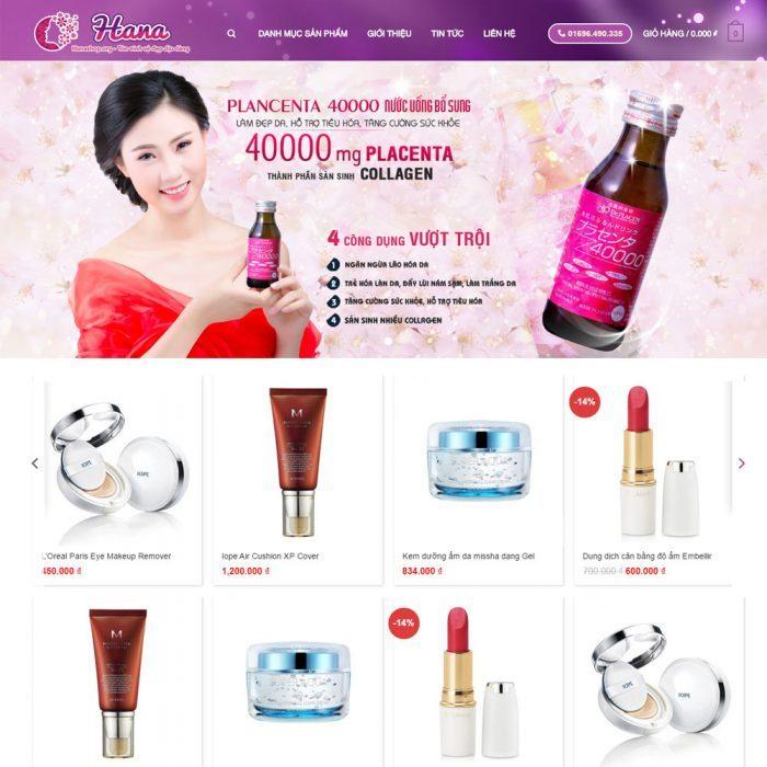 thiết kế website bán mỹ phẩm bằng wordpress