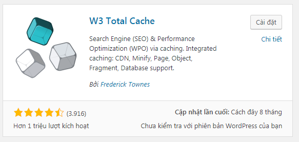 plugin tạo cache cho wordpress
