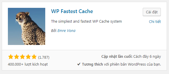 plugin tạo cache wordpress