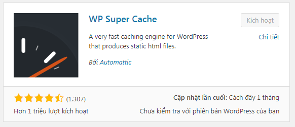 plugin cache cho wordpress