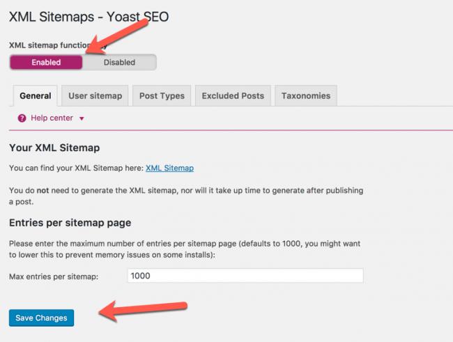 plugin tạo sitemap cho wordpress