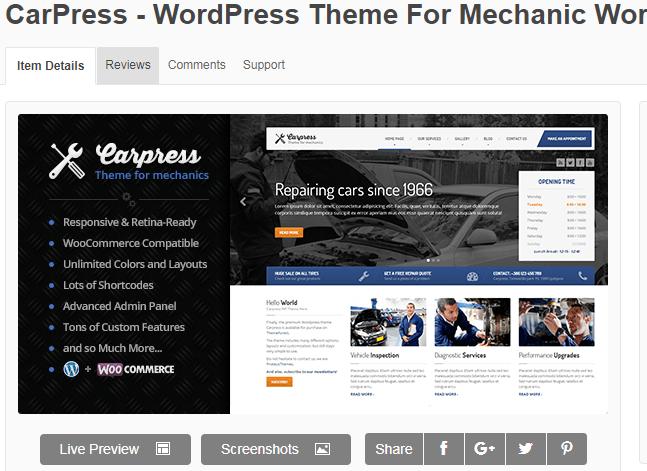 theme wordpress kinh doanh ô tô