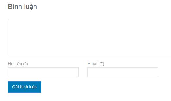 Xóa mục website trong khung bình luận wordpress
