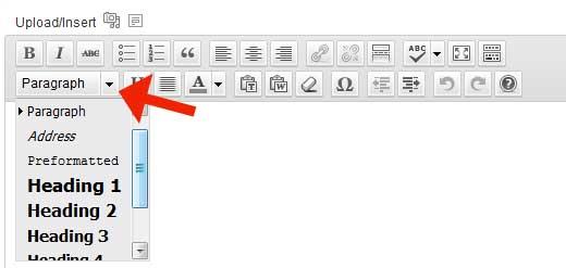 thay đổi kích cỡ chữ trong wordpress