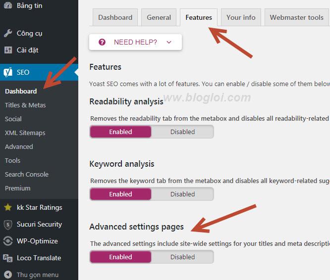 Cách thêm thẻ meta keywords và meta descriptions trong wordpress