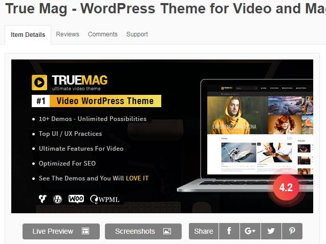 theme wordpress làm web video blog