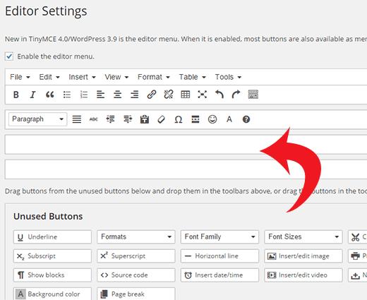 tùy chỉnh thay đổi kích cỡ chữ trong wordpress