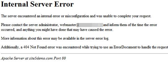 sửa lỗi internal server error trong wordpress