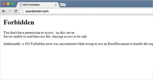 lỗi 403 forbidden error trong wordpress