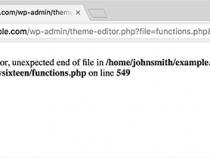 Hướng dẫn sửa lỗi Syntax Error trong wordpress