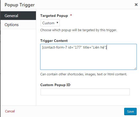 plugin tạo popup wordpress