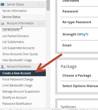 tạo hosting trên reseller hosting